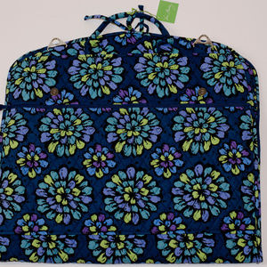 Vera Bradley Garment Bag Indigo Pop Pattern NWT